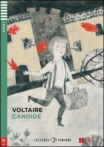 """Portada de la adaptación del clásico Cándida para aprender el idioma francés """"Candide"""""""