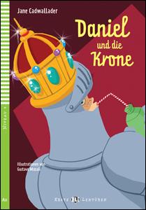 """portada del libro en alemán """"Daniel und die Krone"""" para aprender idiomas."""
