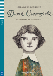 "Portada del libro adaptado ""David Copperfield"" para el aprendizaje del ingles"