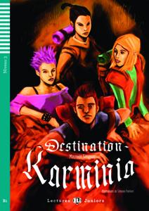 """Portada del libro original en francés """"Destination Karminia"""""""