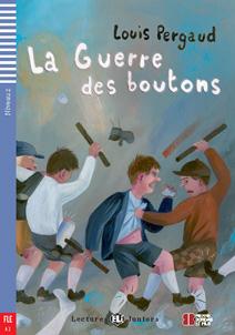 """portada del libro adaptación del clásico """"la guerra de los botones"""": """"La guerre des Boutons"""""""
