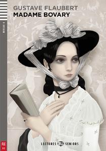 "portada de la adaptación para adolescentes, en idioma francés, de la novela clásica ""Madame Bovary"" de Flaubert."