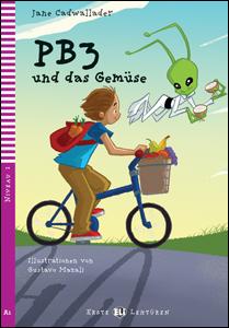 """portada del libro """"PB3 und das Gemüse"""" en alemán para perfeccionamiento de este idioma"""
