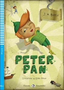 """Adaptación del clásico """"Peter Pan"""" para niños y el aprendizaje del idioma inglés"""