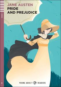 "Portada del libro para el aprendizaje del inglés ""Pride and Prejudice"""