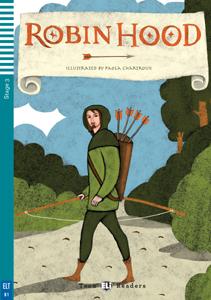 """portada del libro """"Robin Hood"""" adaptación del clásico en inglés"""