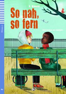 """Portada del libro original para niños """"So nah, so fern"""" para el aprendizaje del alemán."""