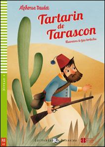 """portada de la adaptación del clásico francés """"Tartarin de Tarascon"""""""