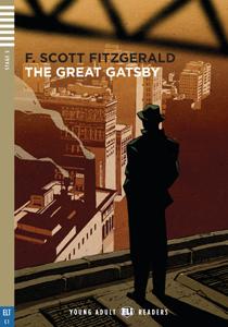 """Portada de la adaptación para adultos y adolescentes del libro """"The Great Gatsby"""" para el aprendizaaje y el perfeccionamiento del idioma inglés"""