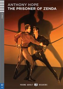 """Portada del libro adaptado del clásico """"The Prisoner of Zenda"""" para el aprendizaje del inglés."""