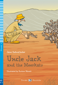 "portada del libro en inglés ""Uncle Jack and the Meerkats"""