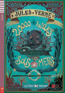 "Portada del libro ""Vingt Mille Lieues sous les mers"", adaptación para adolescentes en idioma francés"