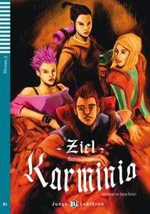 """portada del libro original en alemán """"Ziel Karminia"""" para niños y adolescentes."""