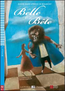 """Portada del la adaptación del clásico en francés """"La Belle et la Bête"""". La bella y la bestia"""